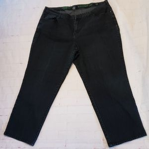 AVENUE BLACK DENIM LITE STRAIGHT LEG SIZE 20